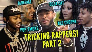 Jibrizy Tricks EVERY Rapper AGAIN! Street Magic On Pop Smoke, NLE Choppa, Doja Cat, Blueface & More