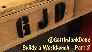 Workbench Build - Part 2 (Tool Wall/Cabinet Faces) GettinJunkDone