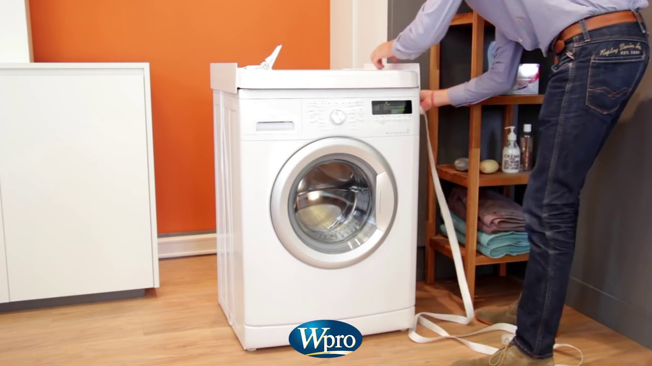 Kit de superposition pour lave linge et s che linge wpro sks100 but youtube - Machine a laver et seche linge ...
