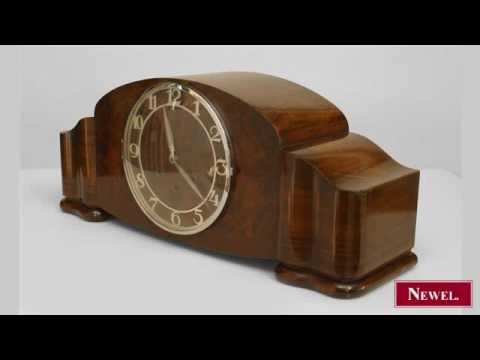vintage german keywound mantle clock