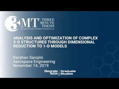 2019 3mt Finals Darshan Sarojini Ph D Student Aerospace Engineering Youtube