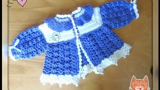 Детский жакетик крючком - Часть 2.  Children's jacket crocheted Part 2