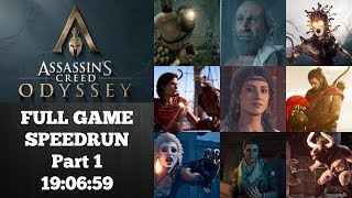 Assassin's Creed Odyssey (Pt 1) | Full Game Speedrun (Odyssey%) | World Record 10/11/2018 | 19:06:59