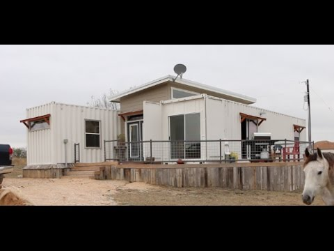 Shipping Container House With LOFT HAMMOCK!