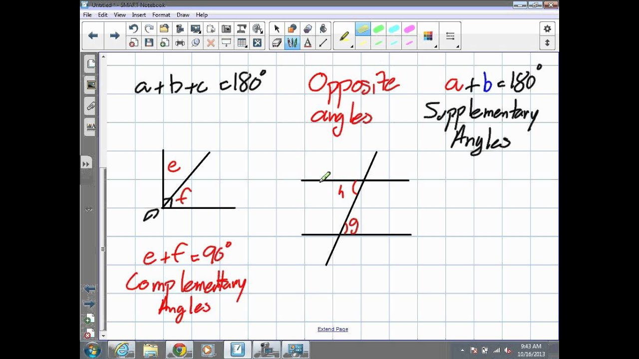 small resolution of Angle Properties Grade 9 Academic Chapter 7 Pre Req 10 16 13) - YouTube