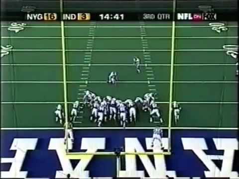 Amani Toomer catches 82 yard flea flicker TD vs Colts in 2002