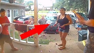 10 WEIRD MOMENTS CAUGHT ON DOORBELL CAMERA