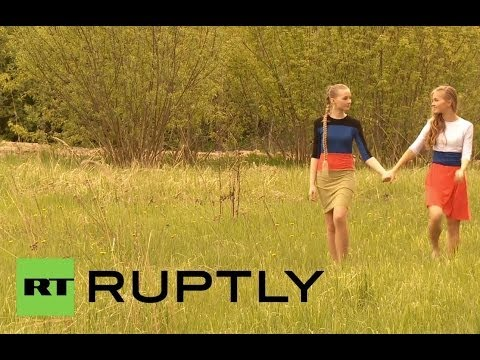 Russia: Models pose in photoshoot for Donetsk People's Republic