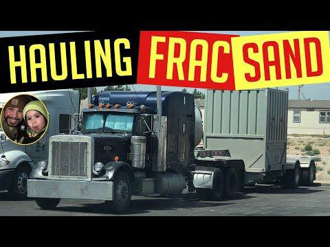 Frac Sand Hauling In West Texas Oilfield Trucking