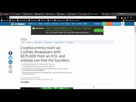 Ico News Confido, Bitserial, Binarycoin & Polynetwork Lending Platforms