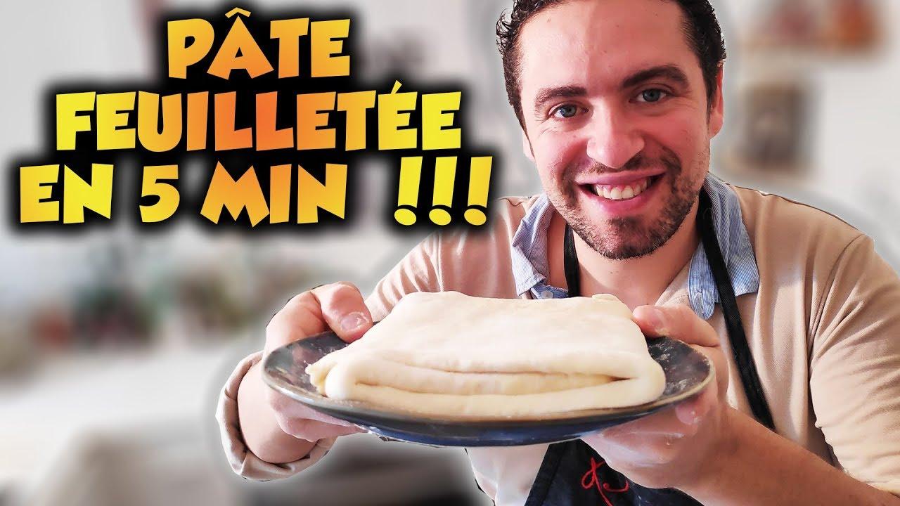 Ma recette de pâte feuilletée express en 5 minutes !! Facile et rapide ! - YouTube