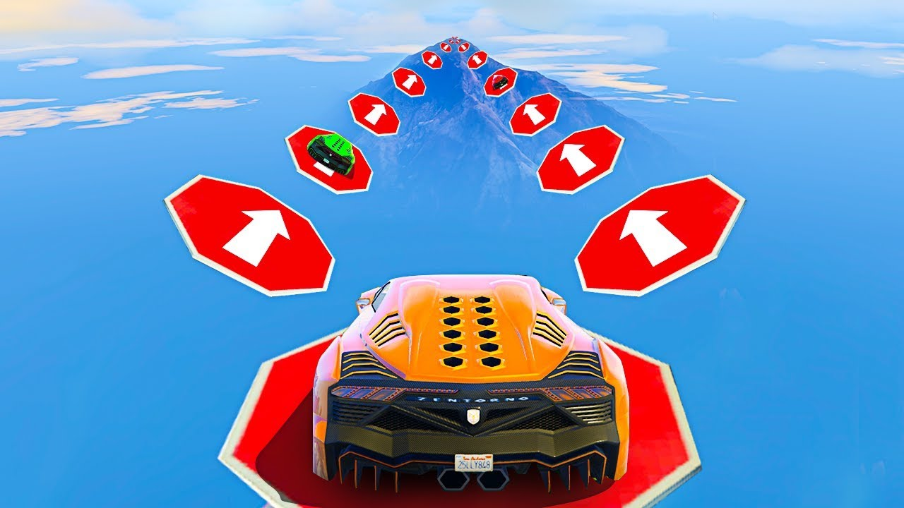 NO CURSING CAR STUNT GAMING CHALLENGE - GTA 5 Funny Moments & Fails Walkthrough & Playthrough