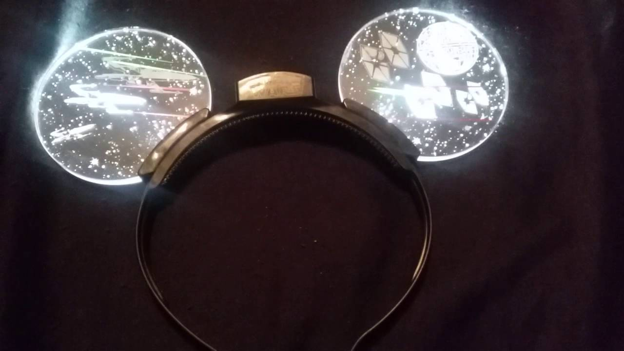 Star Wars Mickey Light Up Ears Youtube