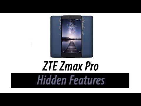 Zte zmax pro hidden features