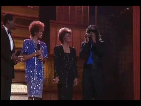 """Dionne Warwick, Stevie Wonder, Whitney Houston, Luther Vandross """" That's What Friends Are For """" ."""