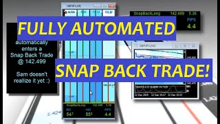 Snap Back Trade +45 Pips! (I only got +10) FibMatrix is Now Fully Automated Forex Trading Software!