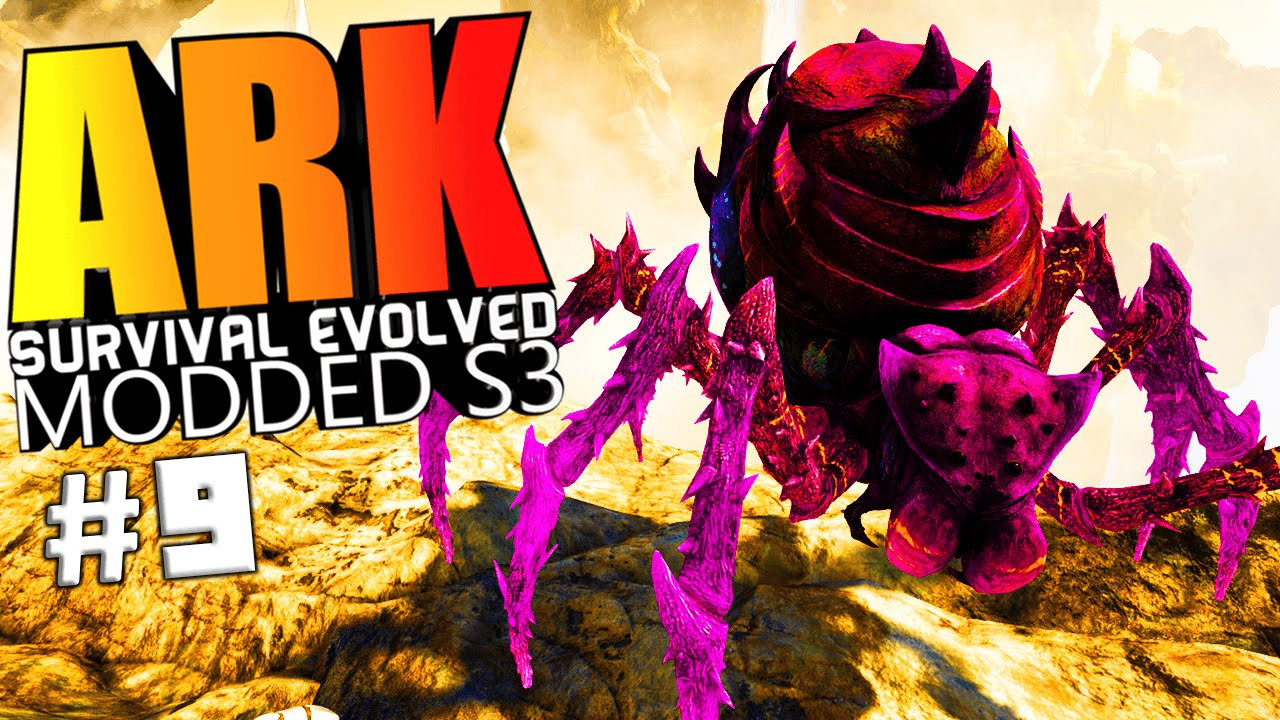 ARK Survival Evolved - BROODMOTHER BOSS TAMING & PRIMAL BOSS FIGHT Modded  #9 (ARK Mods Gameplay)