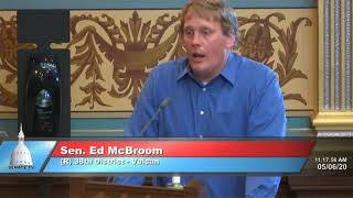 Sen. McBroom speaks to the Senate about opening Michigan by region