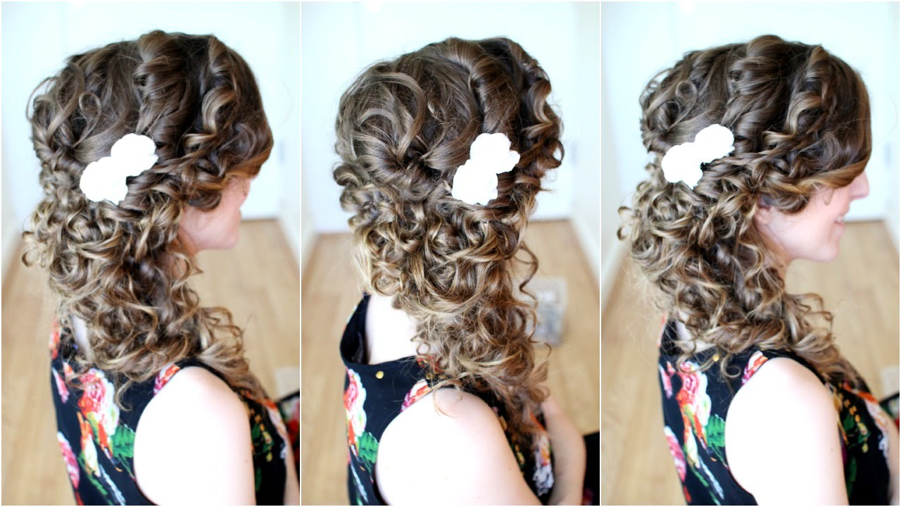 Curly Hairstyles For Weddings Side Braid Within Por Wedding To The