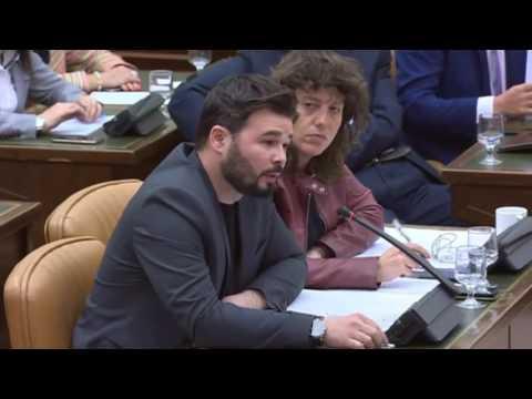 GABRIEL RUFIÁN (ERC) - BRONCA BRUTAL con DE ALONSO en el Congreso (05/04/2017)