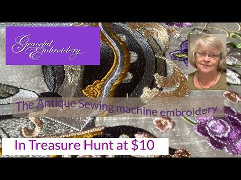 Machine embroidery Treasure - Antique Sewing Machine - only $10
