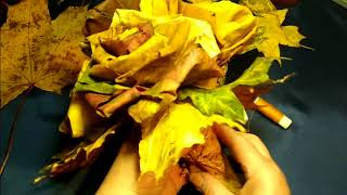 букет из кленовых листьев. Цветы из кленовых листьев. Осенний букет. осенние поделки в садик