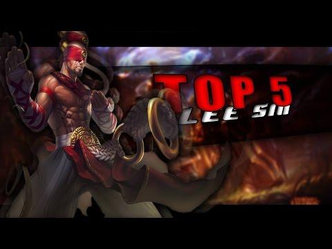 TOP 5 Lee Sin EDIT | League Of Legends | 2016