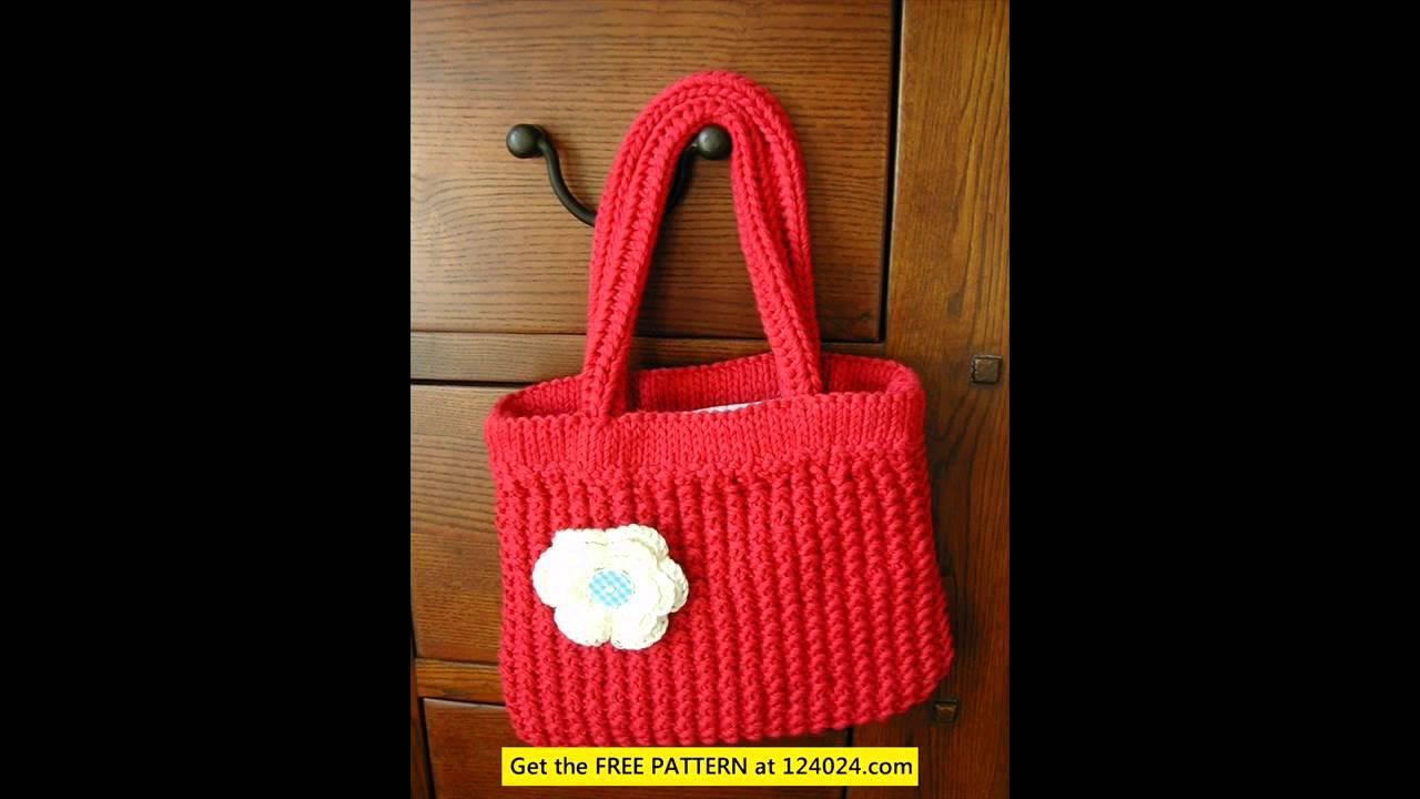 knitting bag sewing pattern - YouTube