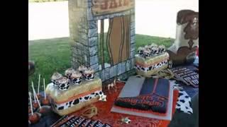 DIY Cowboy birthday party decorating ideas