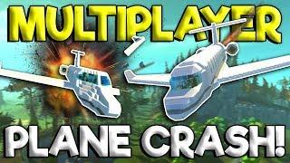MULTIPLAYER PLANE CRASH SURVIVAL! - Scrap Mechanic Update Gameplay