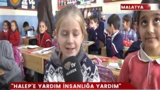 Malatya Kazım Karabekir İlkokulu Öğrencilerden Halep'e bir tır dolusu yardım