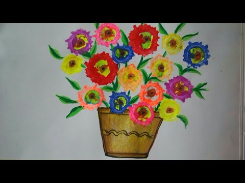 Vegetable painting:how to draw and paint flowers using vegetables