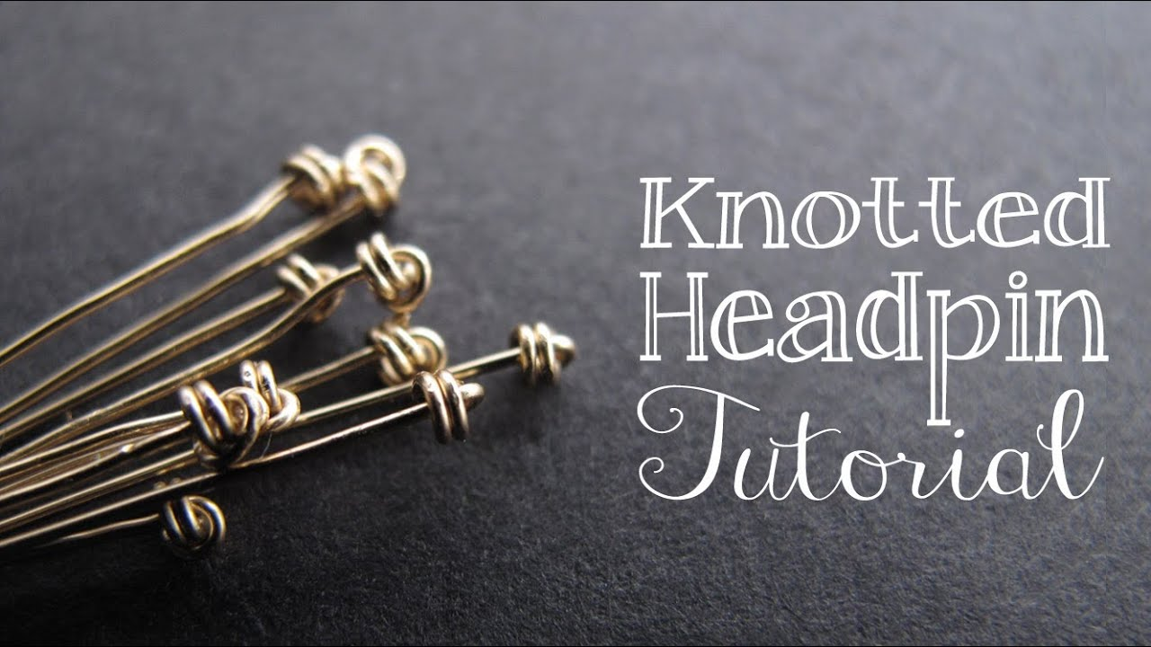 How to Make a Knotted Headpin - Jewelry Tutorial Headquarters - YouTube