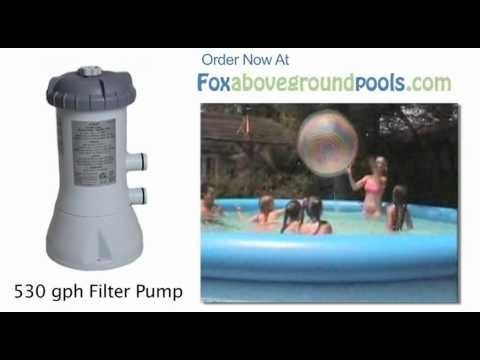 Intex 530 Gph Pool Filter Pump Model 58603e How To Set