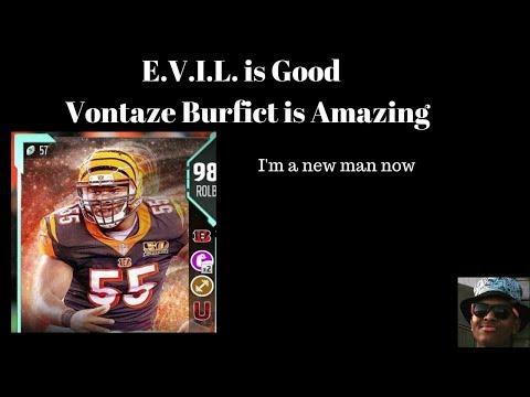 I'm a new man: 98 Position Hero Vontaze Burfict: E.V.I.L is Good Madden 18