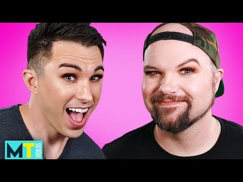 Men Learn How To Apply Makeup From A Professional