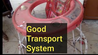 This video is about using, discarded and used children's walker for...