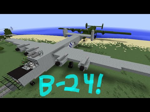 Minecraft Tutorial: B-24 Liberator!