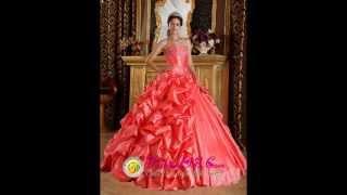Elegant Orange Red Quinceanera Dress Sweetheart Taffeta Emboridery and Beading Ball Gown