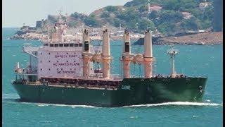 Ship CARME Bulk carrier working at sea
