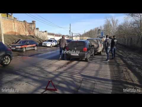 5 машин столкнулись на Алексинском шоссе в Туле