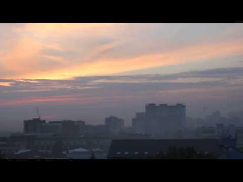 Smoke in Novosibirsk 30 August 2015