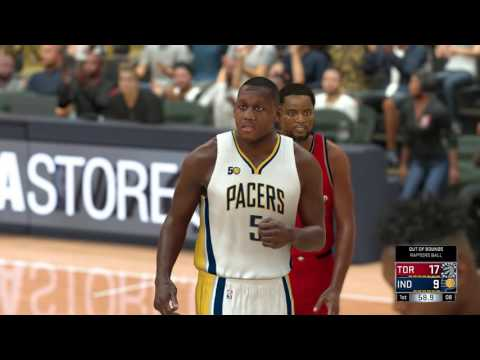NBA 2K17 - Toronto Raptors vs Indiana Pacers - Full Match - [PS4/XB1] Gameplay