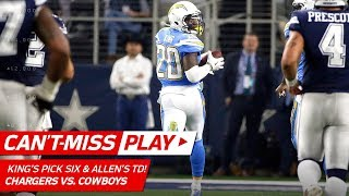Allen Carves Through the Defense for a TD & King's Leaping Pick 6! | Can't-Miss Play | NFL Wk 12