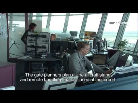 Gate-planners at Amsterdam Airport Schiphol