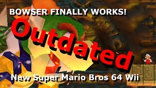 (Outdated) BOWSER FINALLY WORKS! [NSMBW Hack Preview] (+Character Download, Not Full Hack)