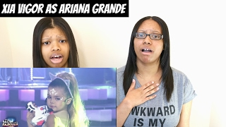 your face sounds familiar kids xia vigor as ariana grande break free   reaction