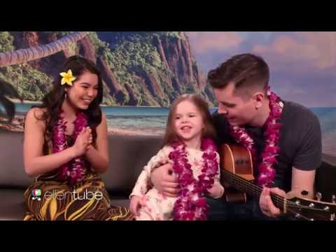 SWEET Father Daughter Duo & Moana Star Aulii Cravalho Sing How Far Ill Go!
