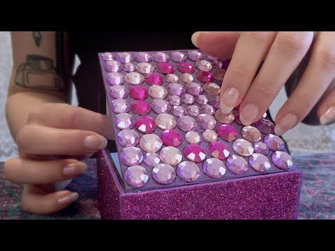 [ASMR] »Clicky« Plastic Jewels Tapping & Scratching💎Tingly Gemstones Galore (No Talking)