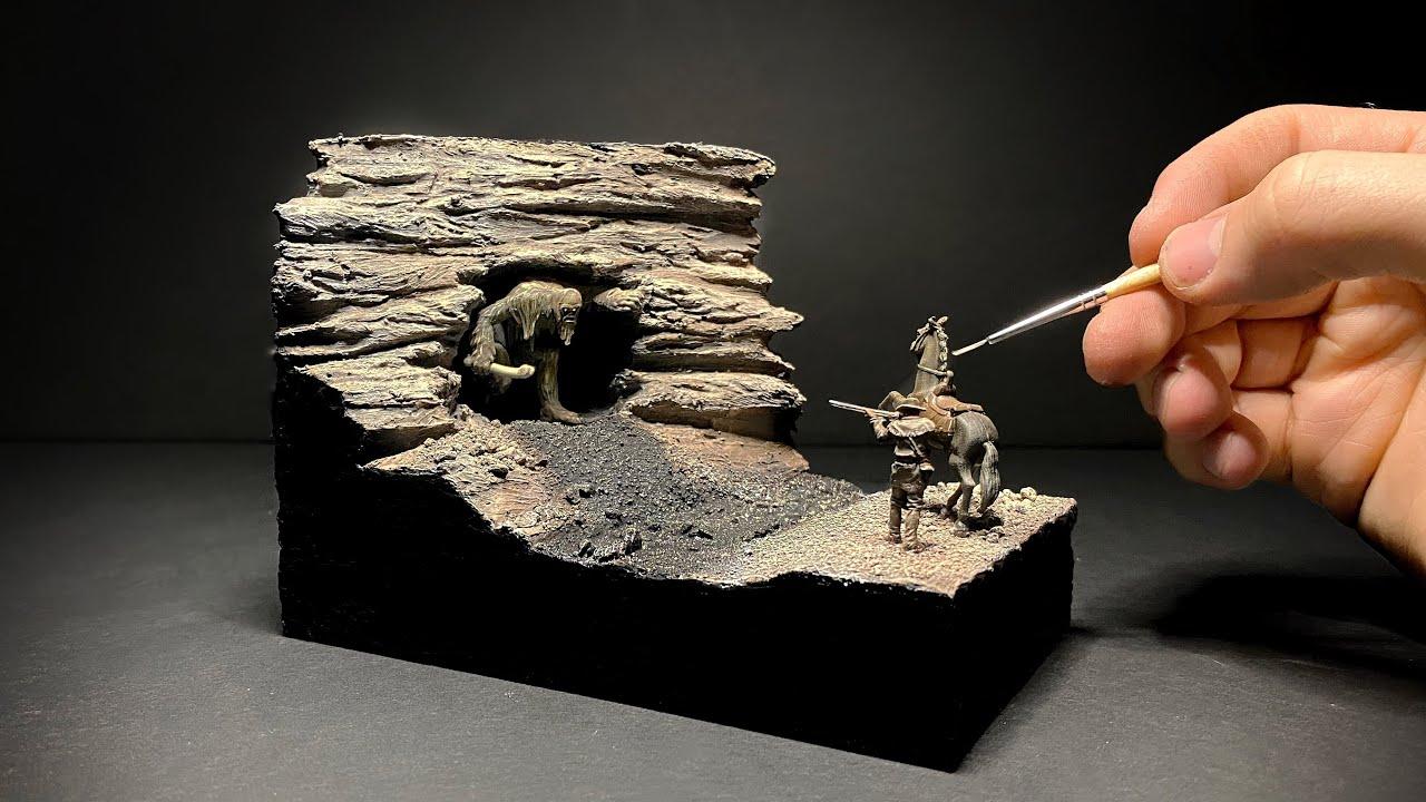 Cave Dwelling Terror | Monster Hunt Diorama